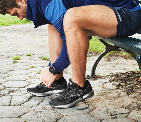 Correctly fitting running shoes is important