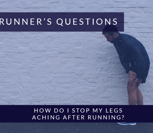 How do I stop my legs aching after Running?