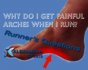 Why do I get painful arches when I run?