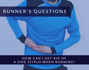 How can I get rid of a side stitch when running?