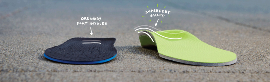 Difference between a superfeet insole and a normal insole