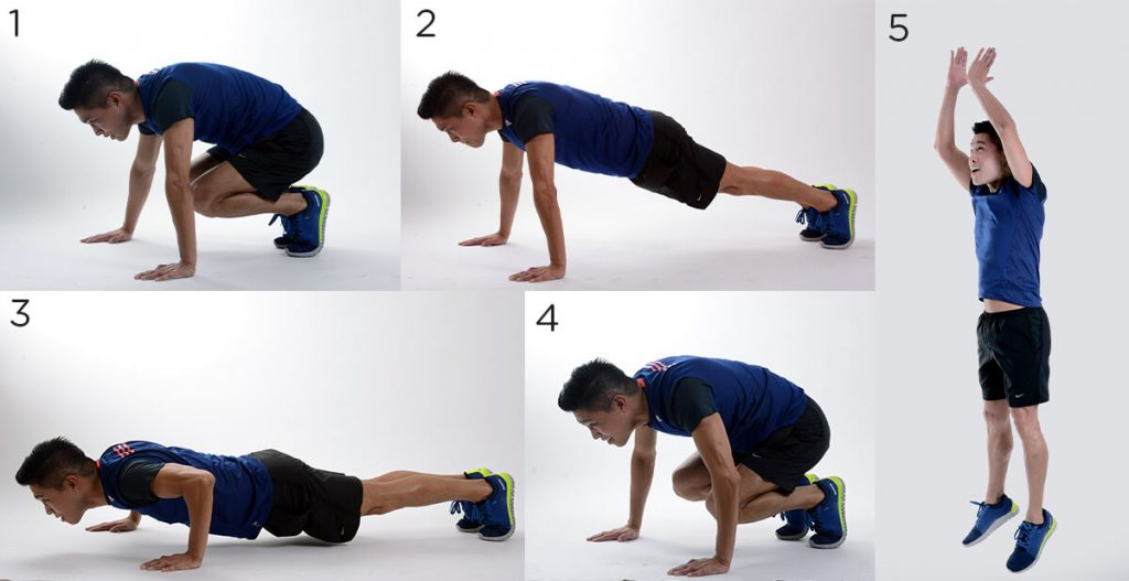 Burpees demonstration